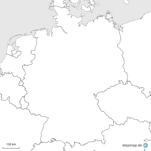 deutschland umriss von as 4teachers landkarte f r deutschland. Black Bedroom Furniture Sets. Home Design Ideas
