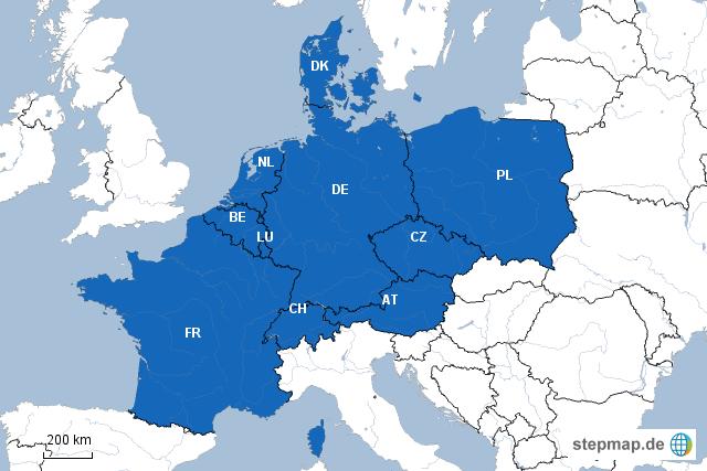 Karte Deutschland Angrenzende Länder | My blog
