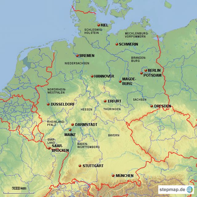 deutschland und bundesl228nder von jurek landkarte f252r
