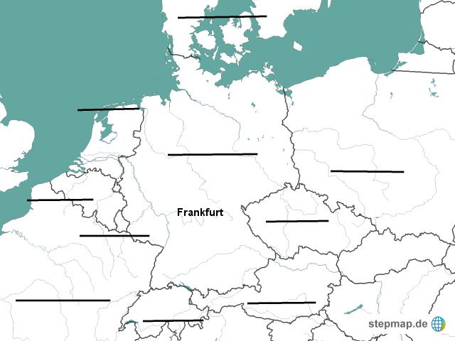 stepmap deutschland und seine nachbarl nder landkarte f r deutschland. Black Bedroom Furniture Sets. Home Design Ideas