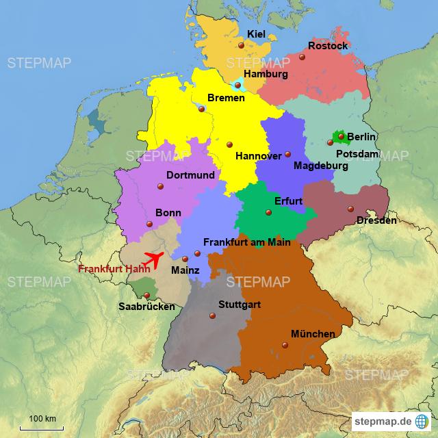 frankfurt hahn karte deutschland Deutschland_Frankfurt Hahn von stepLukas   Landkarte für Deutschland
