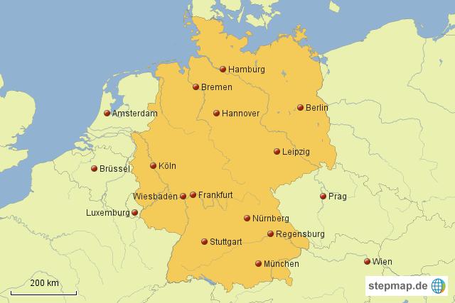 stepmap deutschland uebersicht landkarte f r deutschland. Black Bedroom Furniture Sets. Home Design Ideas