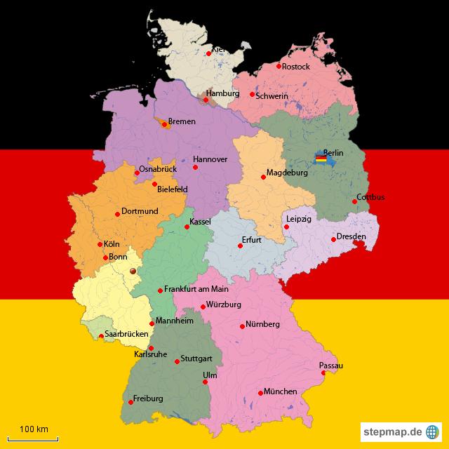 deutschlandkarte von koelner95 landkarte f r deutschland alle bundesl nder. Black Bedroom Furniture Sets. Home Design Ideas