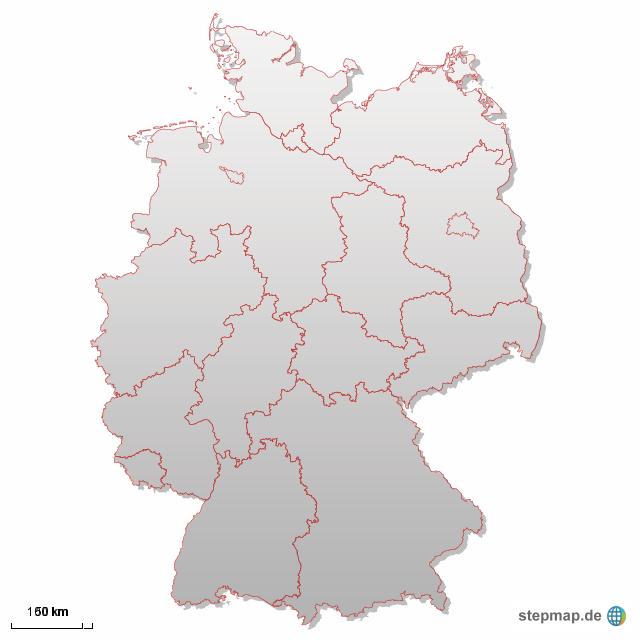 Deutschlandkarte von CathrinBock - Landkarte für ...