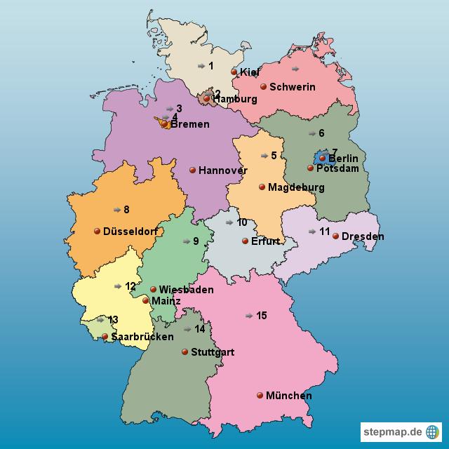 deutschlandkarte von katitier landkarte f r deutschland. Black Bedroom Furniture Sets. Home Design Ideas
