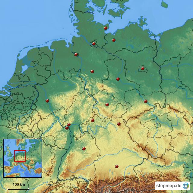 deutschlandkarte geographie von mbartsch landkarte f252r