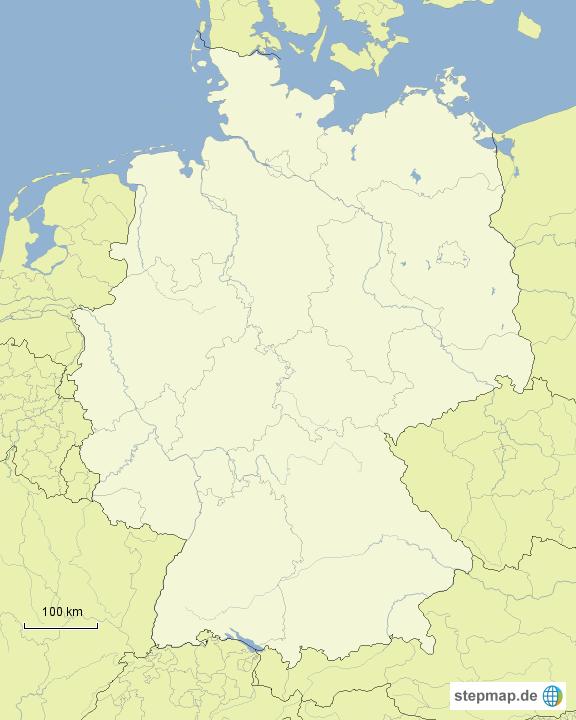 Deutschlandkarte stumm von Potatoe - Landkarte für Deutschland