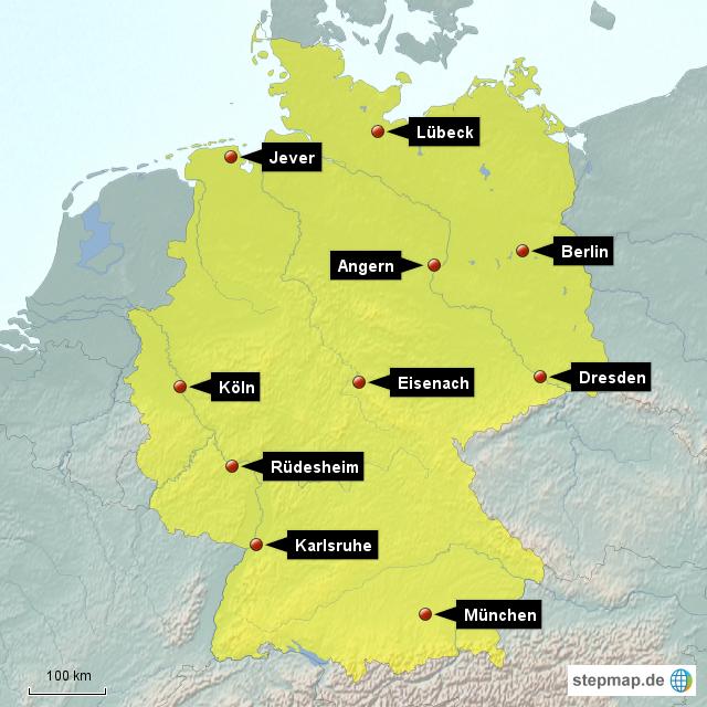 deutschlandkarte markieren Deutschlandkarte_10 von hepi   Landkarte für Deutschland