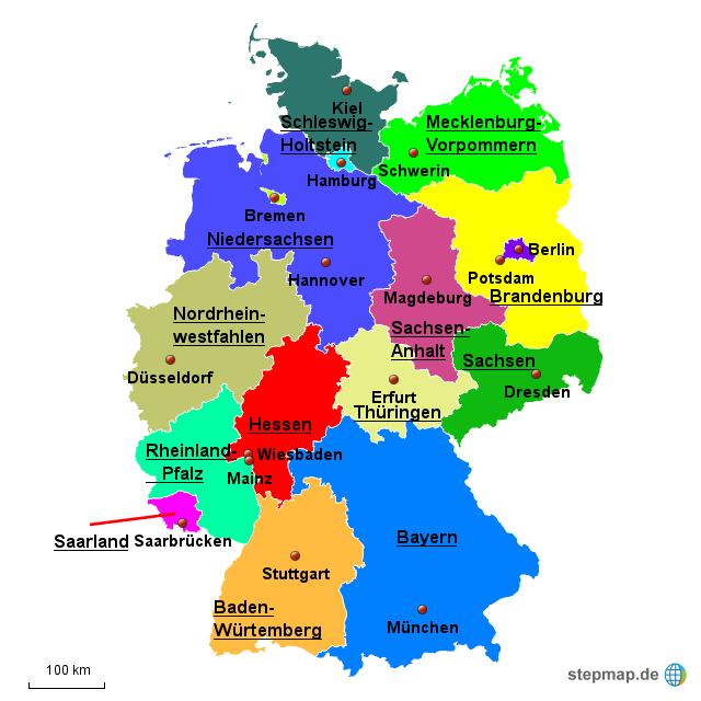 deutschlands bundesl228nder von djego10557 landkarte f252r