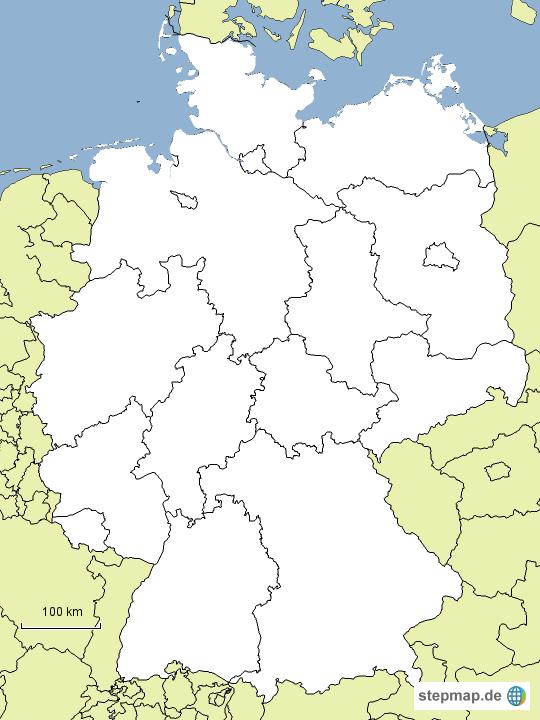 deutschlands bundesl nder stumm von geographer landkarte f r deutschland. Black Bedroom Furniture Sets. Home Design Ideas