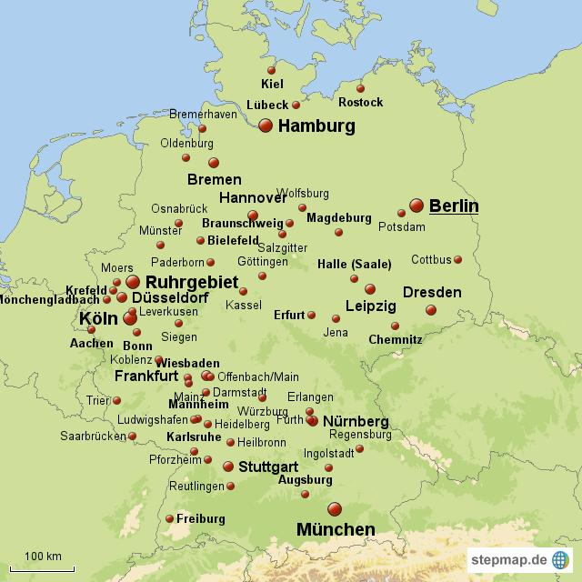 deutschland großstädte