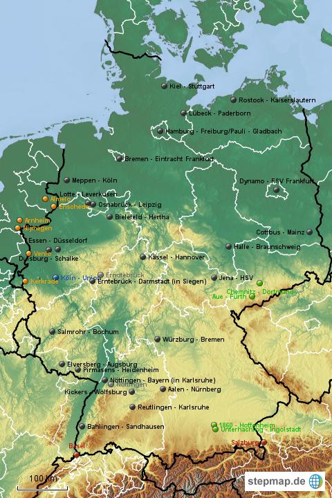 Dfb Pokal 20152016 Runde 1 Von Zello Landkarte Für Deutschland