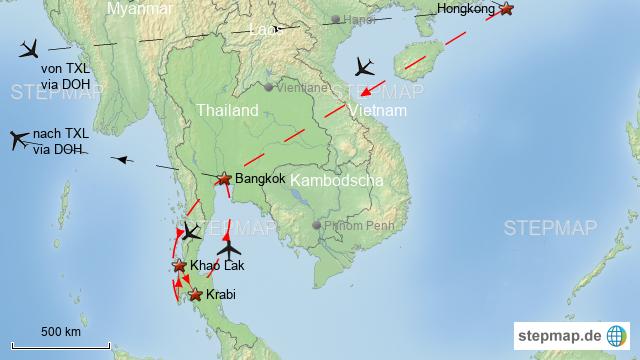Carte Thailande Hong Kong.Diashow Hongkong Thailand 2018 Von Rosang Landkarte Fur
