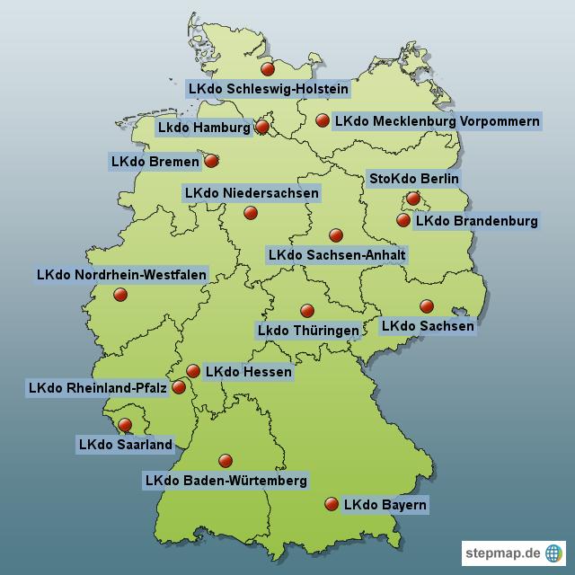 Die Landeskommandos Der Bundeswehr Mit Ihren Standorten