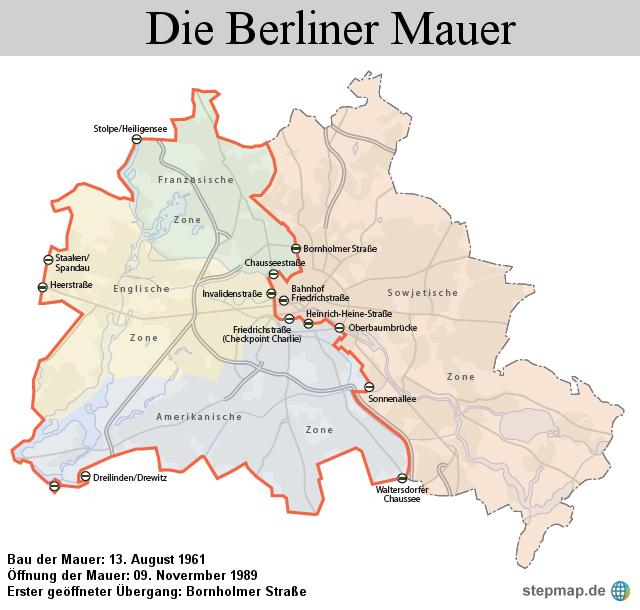 Bau Der Berliner Mauer Karte.Die Mauer 13 August 1961 Von 1und1 Redaktion Landkarte Für Berlin