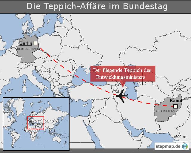 Die TeppichAffäre im Bundestag von lronline  Landkarte