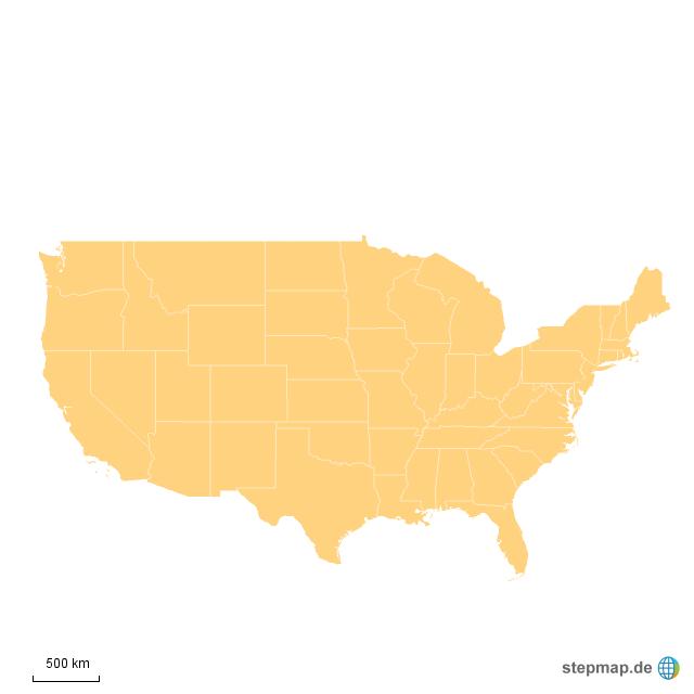 die usa und seine 50 bundesstaaten von kamala matthes landkarte f r nordamerika. Black Bedroom Furniture Sets. Home Design Ideas