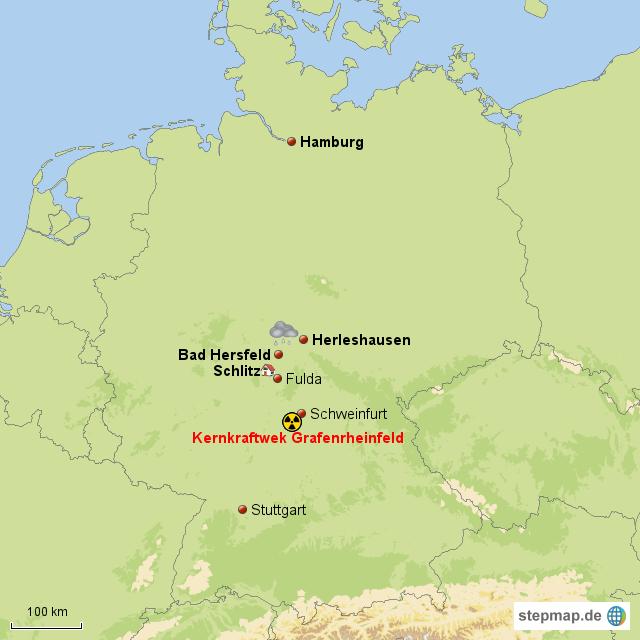die Wolke von vergessen - Landkarte für Deutschland