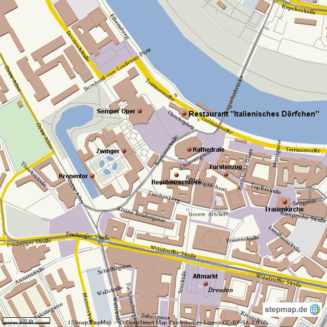 dresden stadtplan von waabse70 landkarte f r deutschland. Black Bedroom Furniture Sets. Home Design Ideas