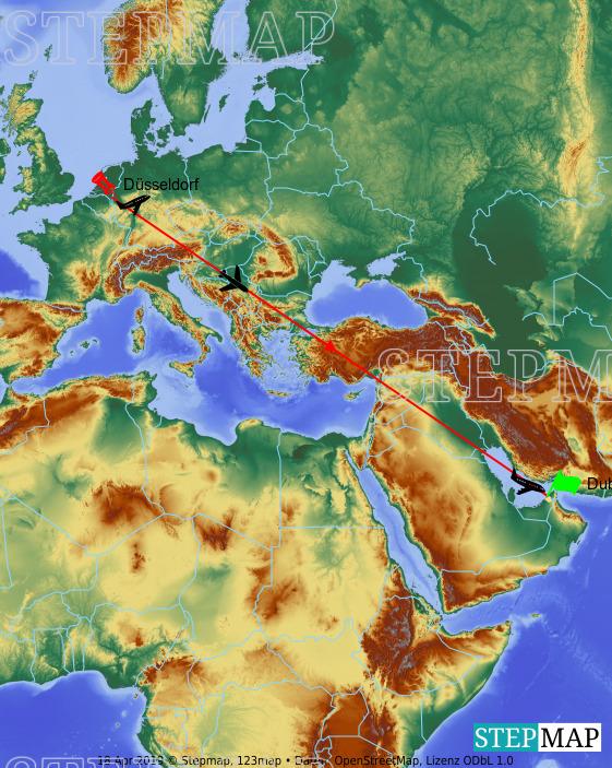 Landkarte: Dubai