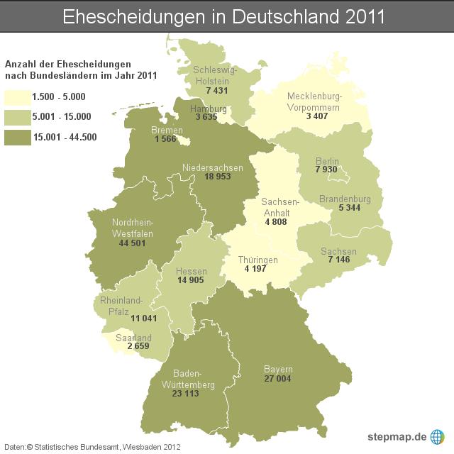 Ehescheidungen In Deutschland