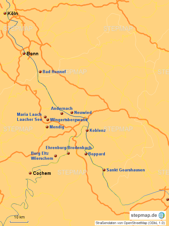Karte Eifel.Eifel Karte 2017 Von C M Landkarte Für Deutschland