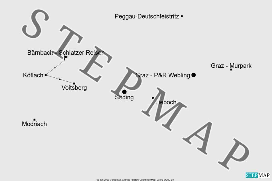 Landkarte: Einstiegsstellen 2020