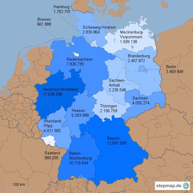einwohnerzahlen der bundesländer