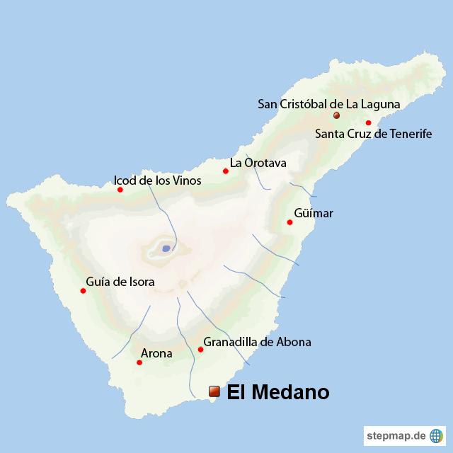 Teneriffa Karte.El Medano Auf Teneriffa Gay Tenerife Von Herrnilson