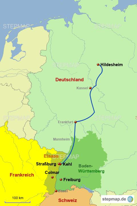 landkarte elsass deutschland Elsass Reise von radihi   Landkarte für Deutschland