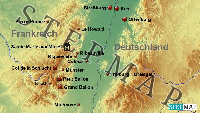 Elsass Auf Karte.Elsass Vogesen Karte Deutschland Karte