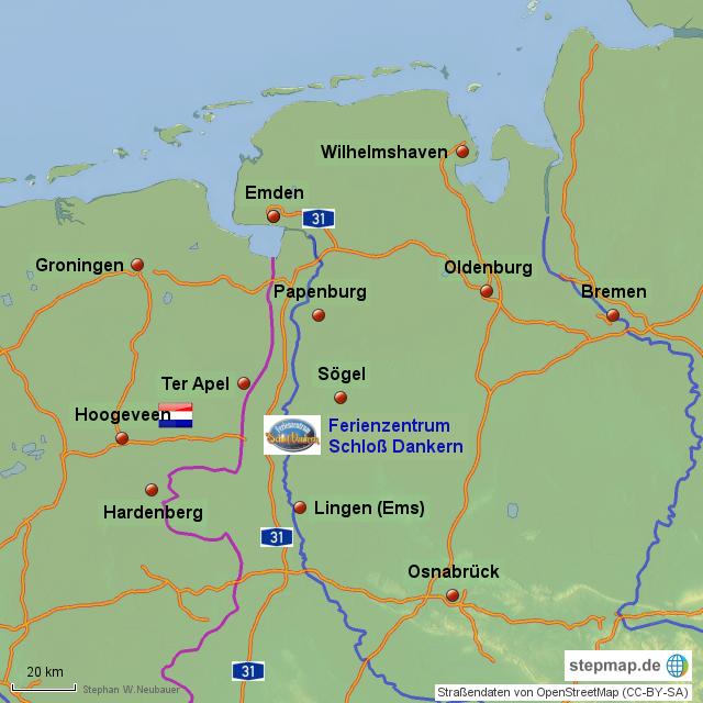 Emsland Karte.Emsland Dankern Von Dab685 Landkarte Für Deutschland
