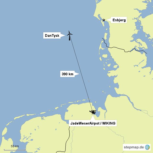 entfernung des rettungshelikopters vom offshore windpark dantysk von hpotsirhc landkarte f r. Black Bedroom Furniture Sets. Home Design Ideas