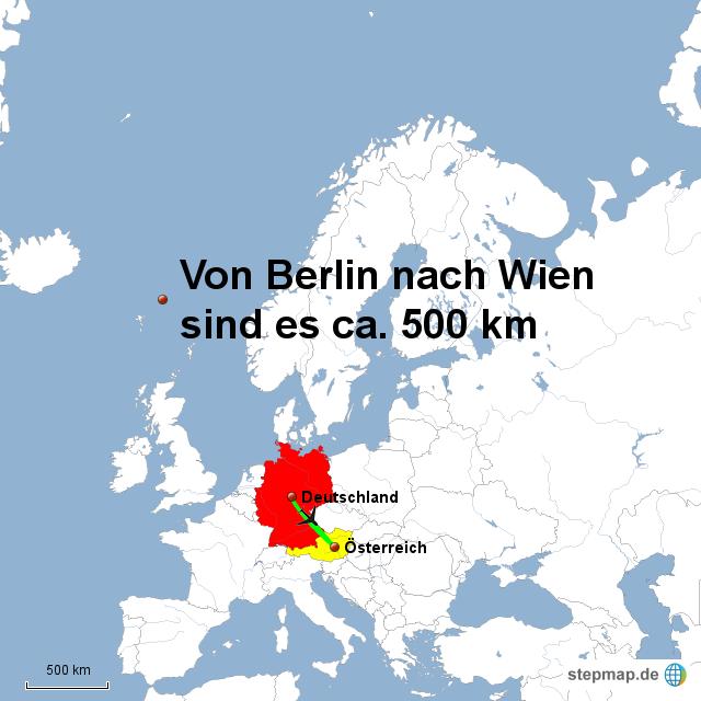 Entfernung Zwischen Berlin Und Wien Von Freimannjannis Landkarte