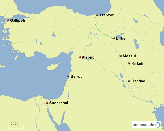 Osmanisches Reich Karte 1914.Erster Weltkrieg Osmanisches Reich Von Feldschmidt Landkarte Für