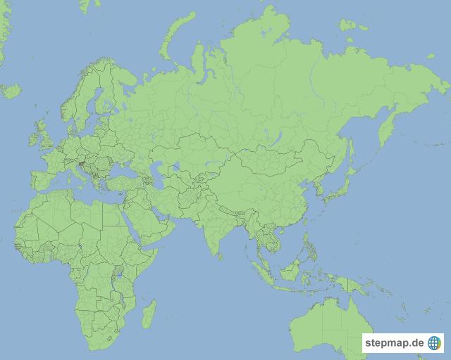 Eurasien mit Afrika von mikehurlimann - Landkarte für <b>Europa</b>