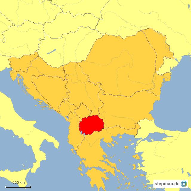 Mazedonien Karte.Mazedonien Karte Europa My Blog