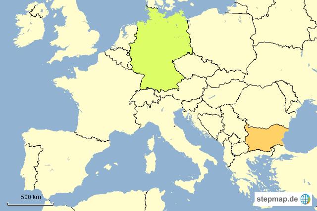 Erdbeben in Bulgarien und Italien von lvzred - Landkarte für Europa