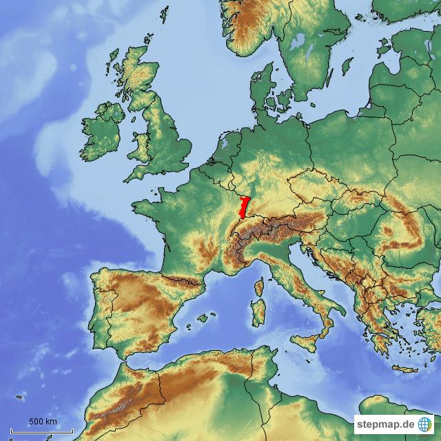 Elsass Karte Frankreich.Europa Frankreich Elsass Von Freaaaak