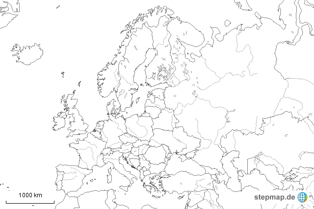 Europakarte Leer Picture Pictures