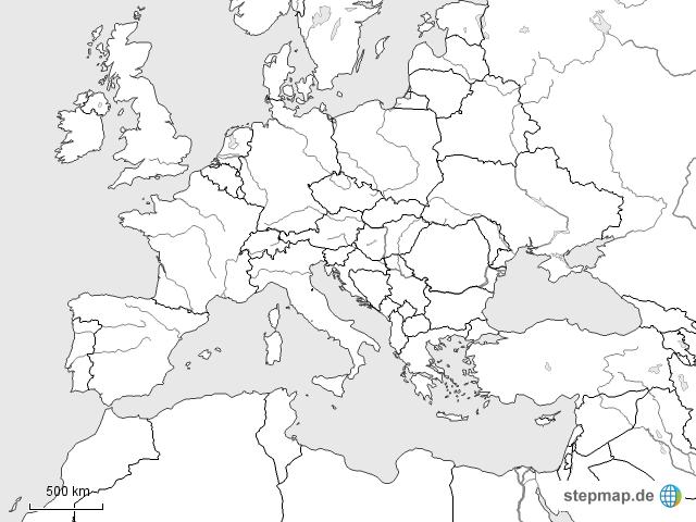 Europa Nordamerika Oberes Ende Ohne Beschriftung Von