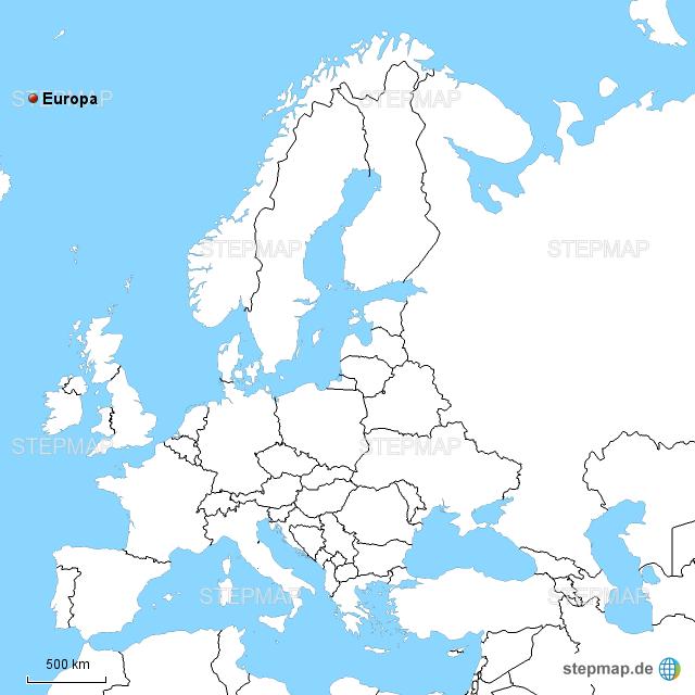 Europa ohne Farben 2 von rauenstein - Landkarte für Deutschland