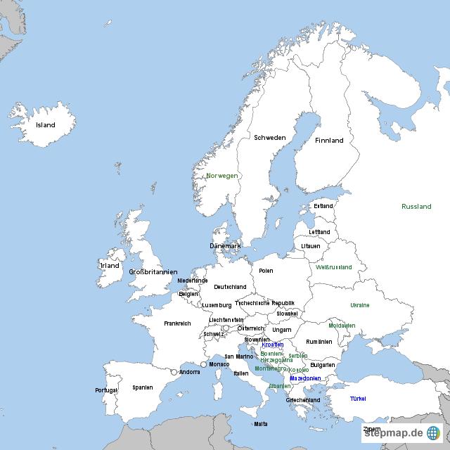 europ228ische staaten von mare landkarte f252r europa