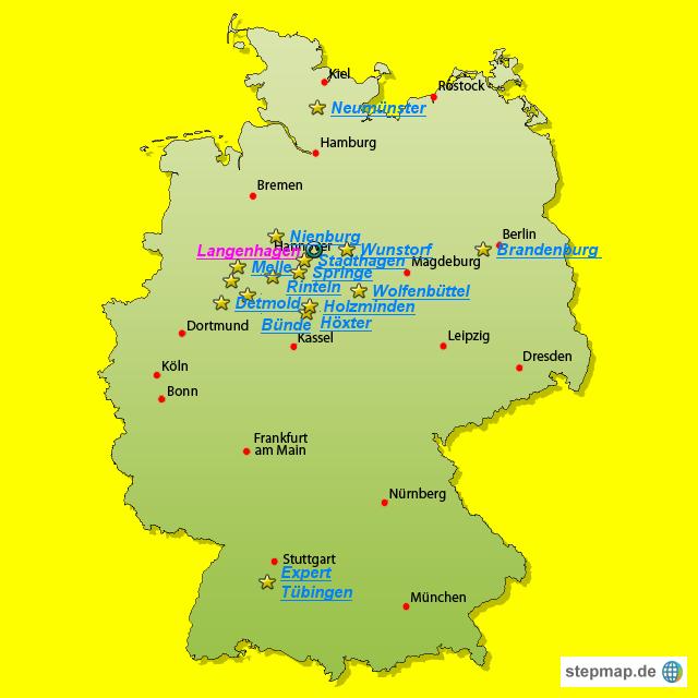 Expert Standorte Von Evelyn Landkarte F R Deutschland