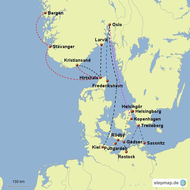 Briefe Von Norwegen Nach Deutschland : Fährverbindungen norwegen von mbs fishing landkarte für