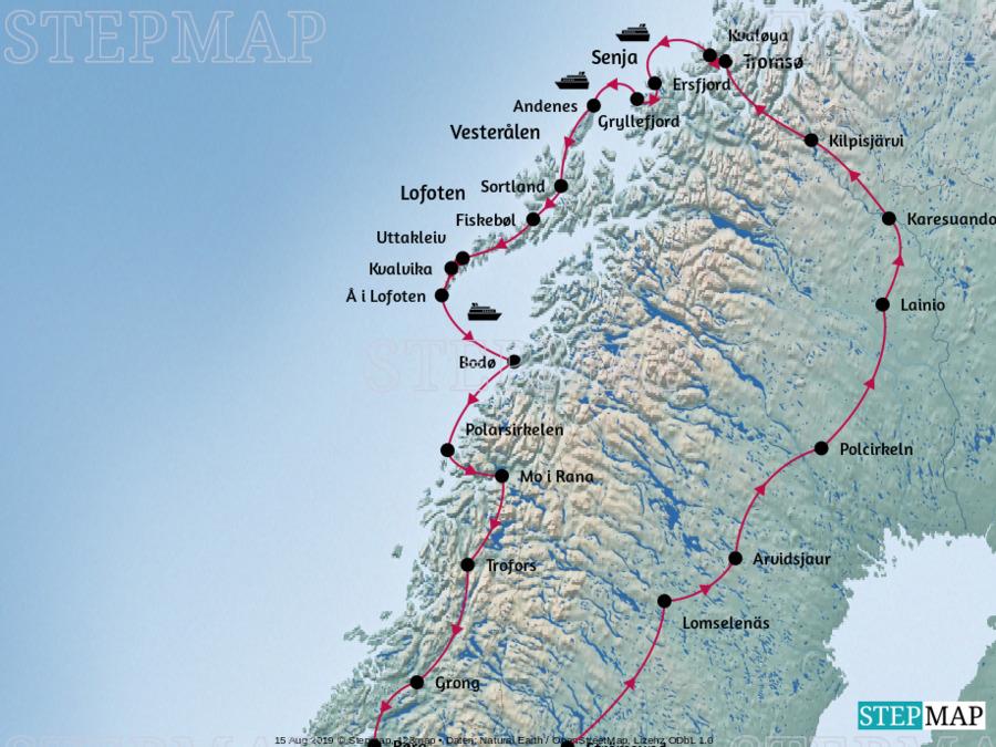 Landkarte: Familienzeit im Norden - Nord