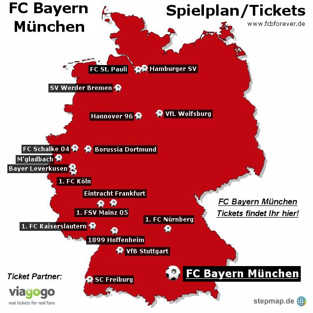 München Karte Bayern.Fc Bayern München Spielplan Tickets Von Viagogo Landkarte Für