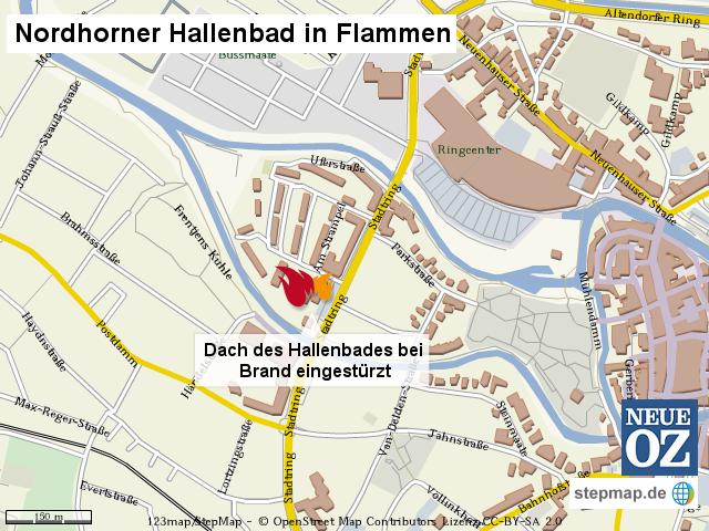 Feuer In Nordhorn Von Neueoz Landkarte Fur Die Welt
