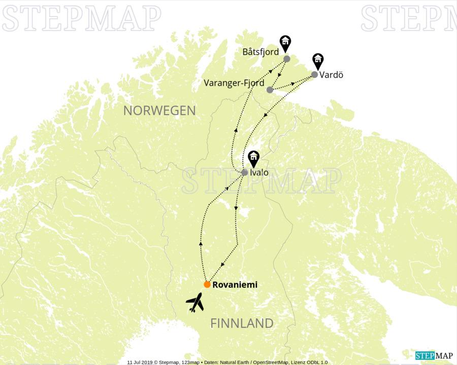 Landkarte: Finnland FIN 02