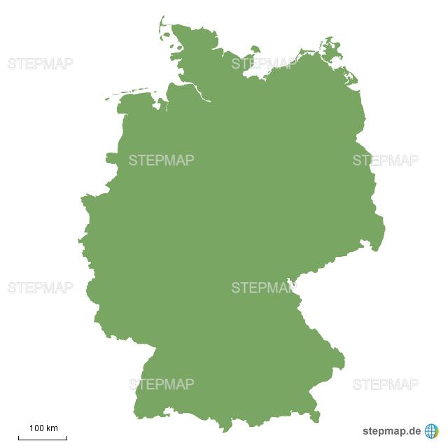 fläche deutschland von noa - landkarte für deutschland
